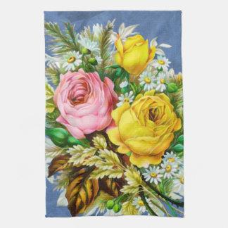 Aquarelle de bouquet floral d'automne serviettes pour les mains