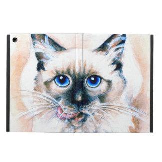 Aquarelle de chat siamois