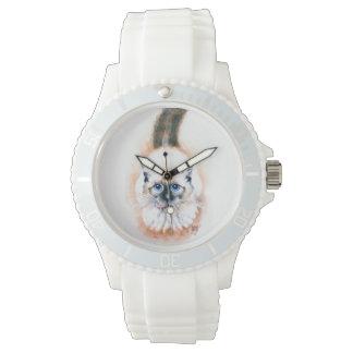 Aquarelle de chat siamois montres cadran