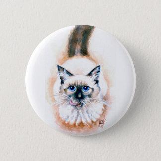 Aquarelle de chat siamois pin's