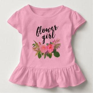 aquarelle de demoiselle de honneur florale t-shirt pour les tous petits