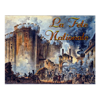 Aquarelle de jour de bastille carte postale