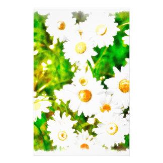 Aquarelle de marguerites papier à lettre customisé