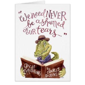 Aquarelle de motivation Croc de citation de Cartes De Vœux