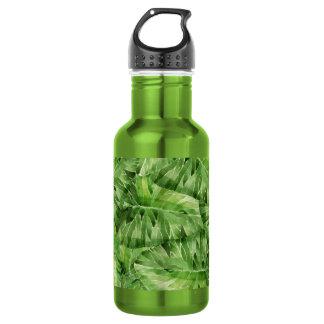 aquarelle de nénuphar bouteille d'eau en acier inoxydable