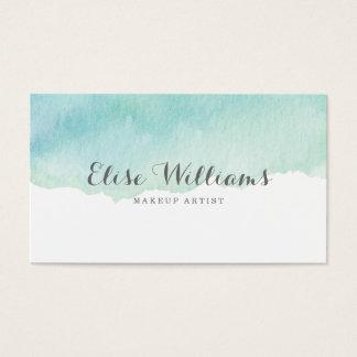 Aquarelle de turquoise cartes de visite