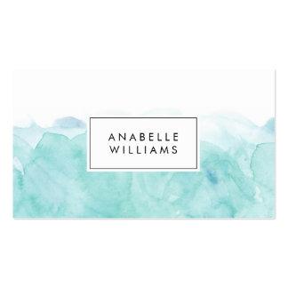 Aquarelle de turquoise moderne carte de visite standard