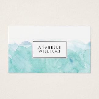 Aquarelle de turquoise moderne cartes de visite