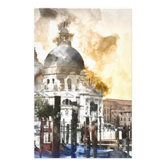 Aquarelle de Venise Italie Motifs Pour Papier À Lettre