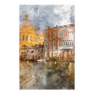 Aquarelle de Venise Italie Papiers À Lettres