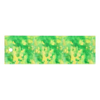 Aquarelle de vert jaune règle de 6 pouces