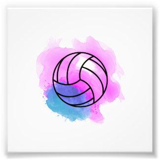 Aquarelle de volleyball impression photo