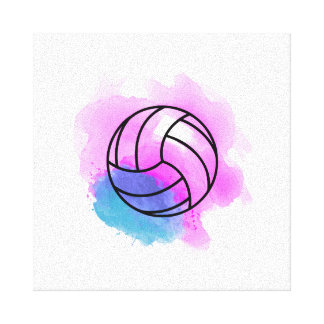 Aquarelle de volleyball toile