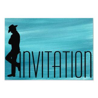 Aquarelle d'homme de cigares des messieurs VIP de Carton D'invitation 8,89 Cm X 12,70 Cm