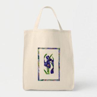 Aquarelle d'orchidée sac de toile