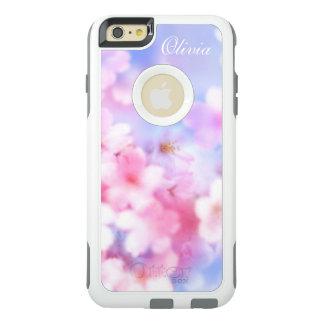 Aquarelle élégante de fleurs de cerisier roses coque OtterBox iPhone 6 et 6s plus
