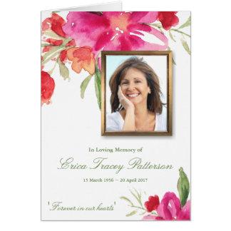 Aquarelle florale et carte de voeux de sympathie