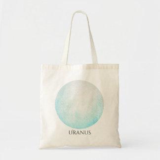 Aquarelle Fourre-tout de planète d'Uranus Sac En Toile