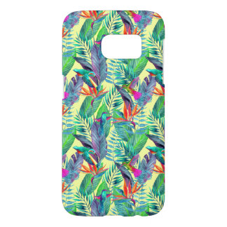 Aquarelle Humminbirds dans la jungle Coque Samsung Galaxy S7
