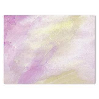 Aquarelle jaune assez rose papier mousseline