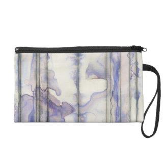 Aquarelle libre d'expression de violette sacs à main avec dragonne
