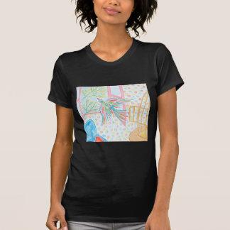 """Aquarelle """"ouvrez la cage aux oiseaux"""" t-shirt"""