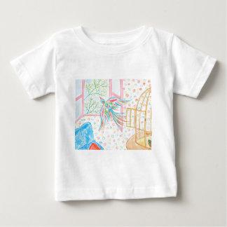 """Aquarelle """"ouvrez la cage aux oiseaux"""" t-shirt pour bébé"""
