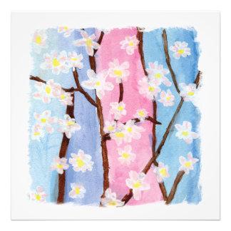 Aquarelle peignant des fleurs de Sakura Photographie