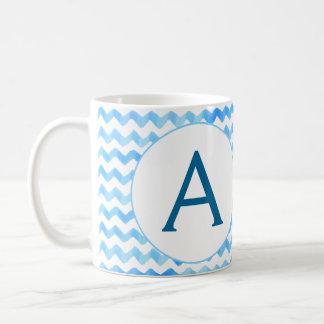 Aquarelle personnalisée de bleu de tasse de café