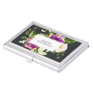 Aquarelle personnalisée par | vibrante de fleur boîtiers pour cartes de visite