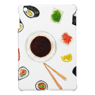 Aquarelle réglée de sushi coque pour iPad mini