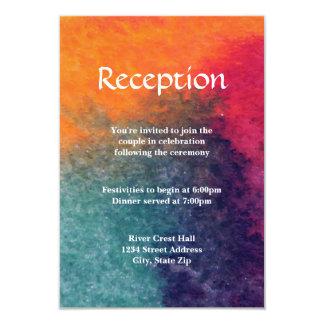 Aquarelle rose bleue orange - invitation de