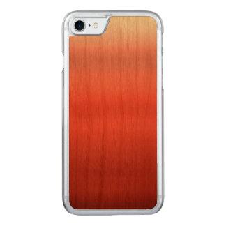 Aquarelle rouge Ombre Coque En Bois iPhone 7