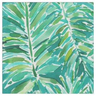 Aquarelle tropicale de paume de JUNGLE SAUVAGE Tissu