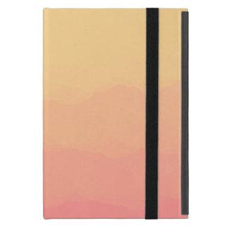 aquarelles de corail oranges de coucher du soleil étui iPad mini