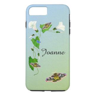 Aquarelles de fleur de gloire de matin de mite de coque iPhone 7 plus