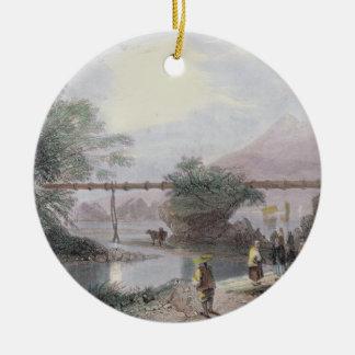Aqueduc en bambou à Hong Kong, gravé par l'annonce Ornement Rond En Céramique