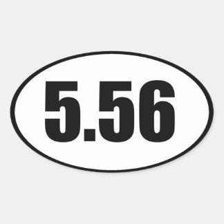 ar15 5,56 sticker ovale