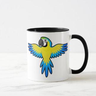 Ara/perroquet de bande dessinée mugs