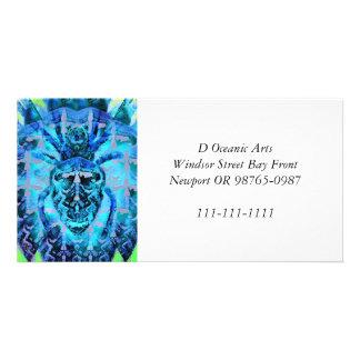 Arachnide bleu photocartes personnalisées