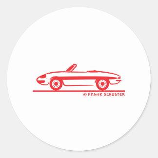 Araignée 1966 d Alfa Romeo Duetto Veloce Autocollant Rond