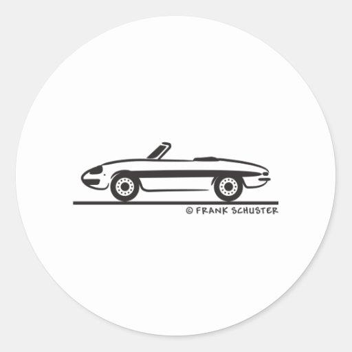 Araignée 1966 d'Alfa Romeo Duetto Veloce Adhésifs Ronds