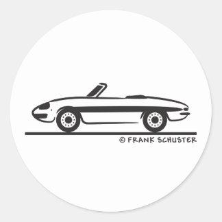 Araignée 1966 d'Alfa Romeo Duetto Veloce Autocollants Ronds