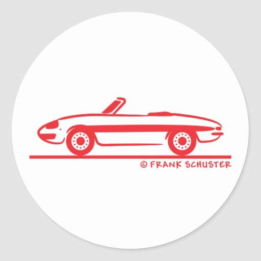 Araignée 1966 d'Alfa Romeo Duetto Veloce Autocollant Rond