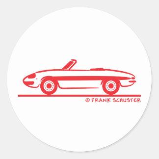 Araignée 1966 d'Alfa Romeo Duetto Veloce Sticker Rond