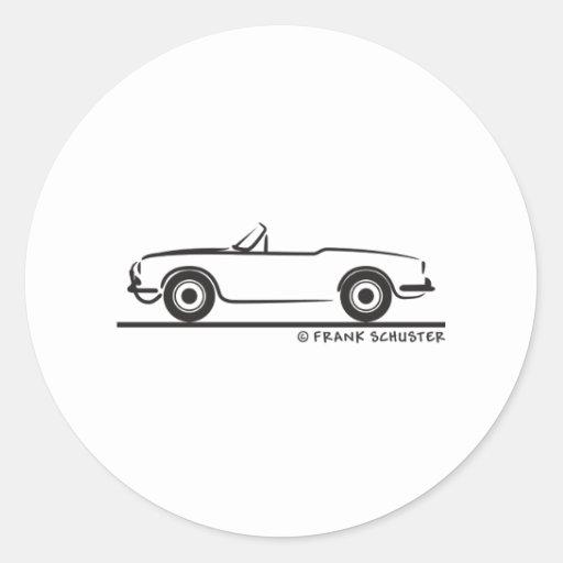 Araignée d'Alfa Romeo Guilietta Autocollant Rond