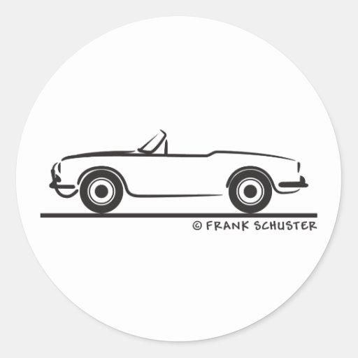 Araignée d'Alfa Romeo Guilietta Adhésif Rond