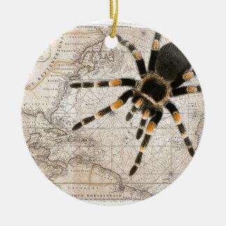 araignée de carte ornement rond en céramique