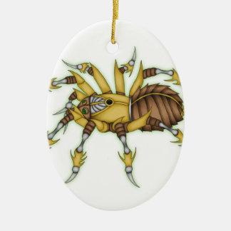 araignée de steampunk ornement ovale en céramique