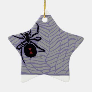 Araignée de veuve noire ornement étoile en céramique